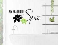 "Wandtattoo ""My beautiful Spa"" bringt Luxus ins Badezimmer"