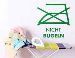 """Wandtattoo """"Bügeln verboten"""" für Hausarbeitsmuffel"""