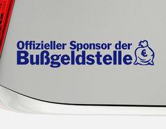 """Aufkleber """"Sponsor der Bußgeldstelle"""" für rasante Autofahrer"""