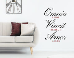 Wandtattoo Omnia Vincit Amor