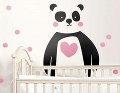 Wandtattoo Panda Love