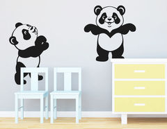Wandtattoo Babypandas Mia & Momo fürs Kinderzimmer