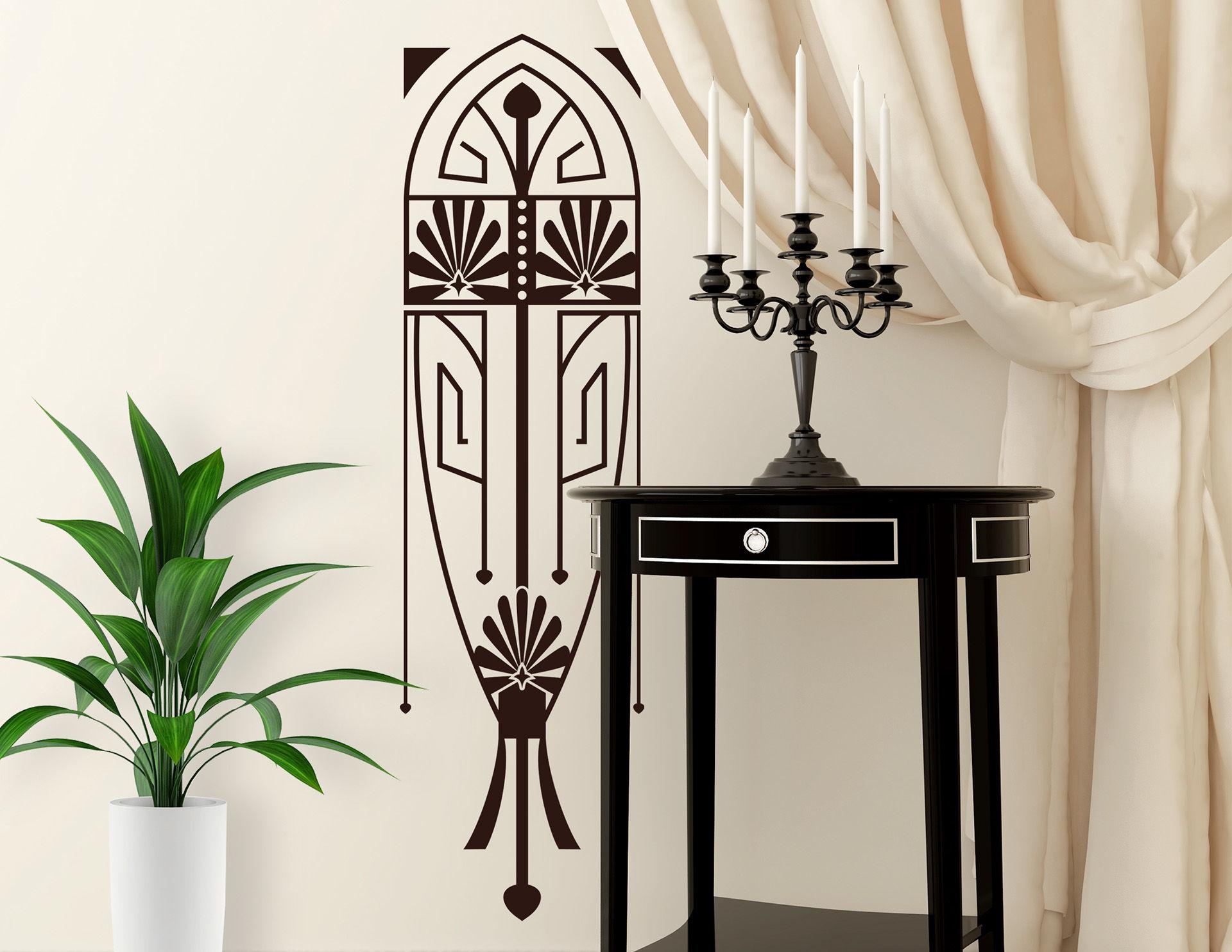 Wandtattoo Art Nouveau - Miroir im Jugendstil-Design