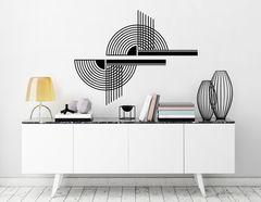 Art Nouveau - Disque, Wandtattoo-Set mit extravagantem Motiv