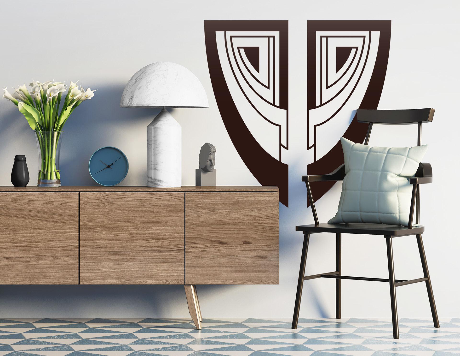 Wandtattoo Art Nouveau - Parure im Jugendstil-Design