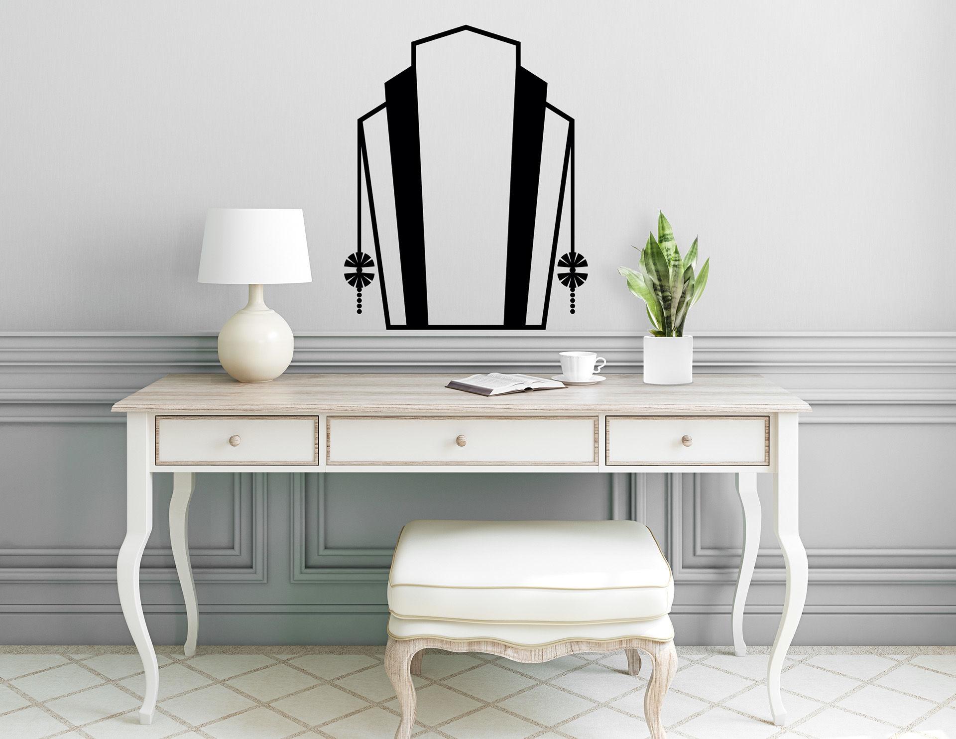 Art Nouveau - Vanité, Wandtattoo mit edlem Jugendstil-Motiv