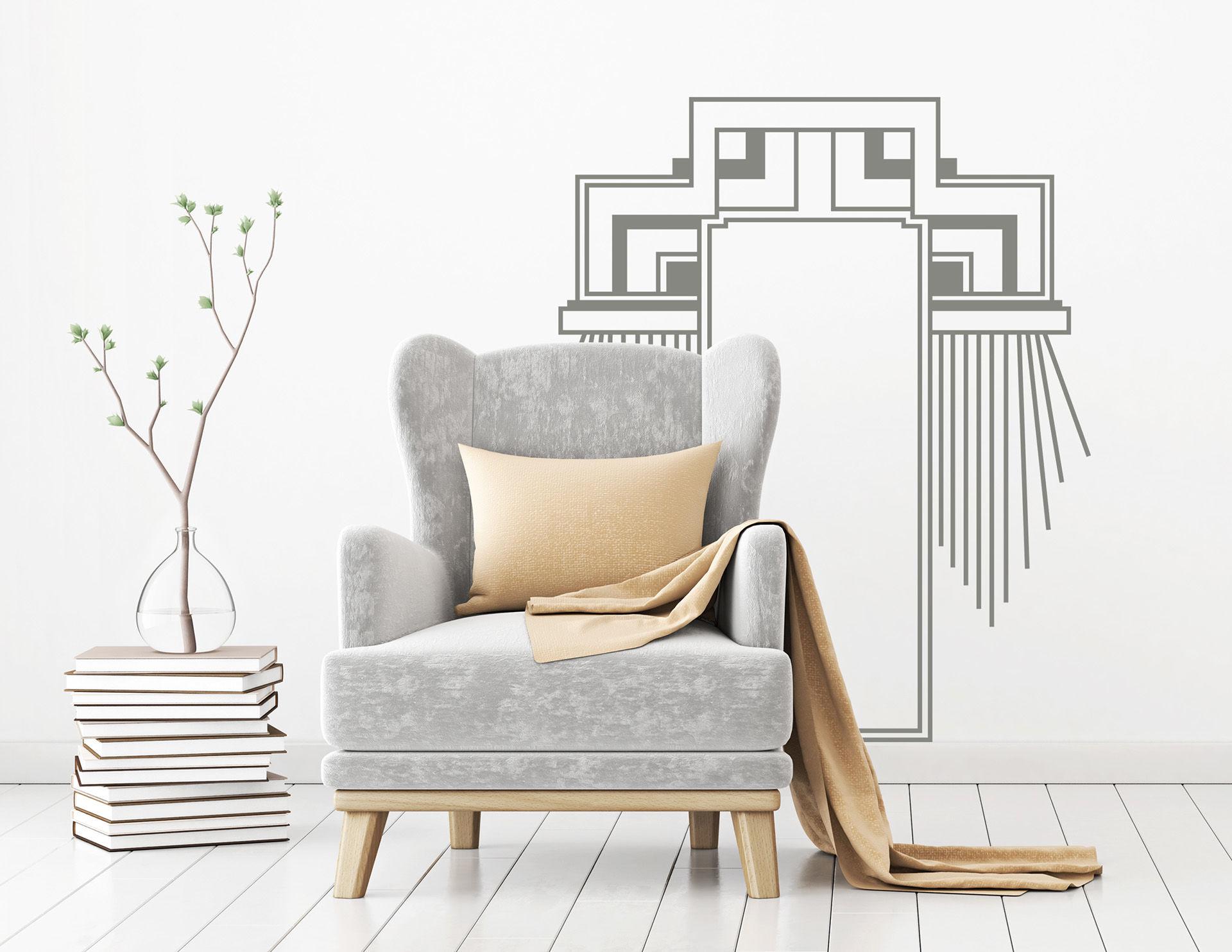 Art Nouveau - Architype, elegantes Wandtattoo im Jugendstil