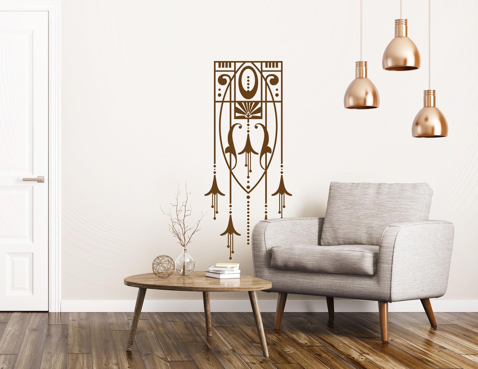 Art Nouveau - Trompette des Anges, Wandtattoo im Jugendstil