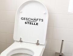 WC-Aufkleber Wandtattoo Geschäftsstelle für Bad und Toilette