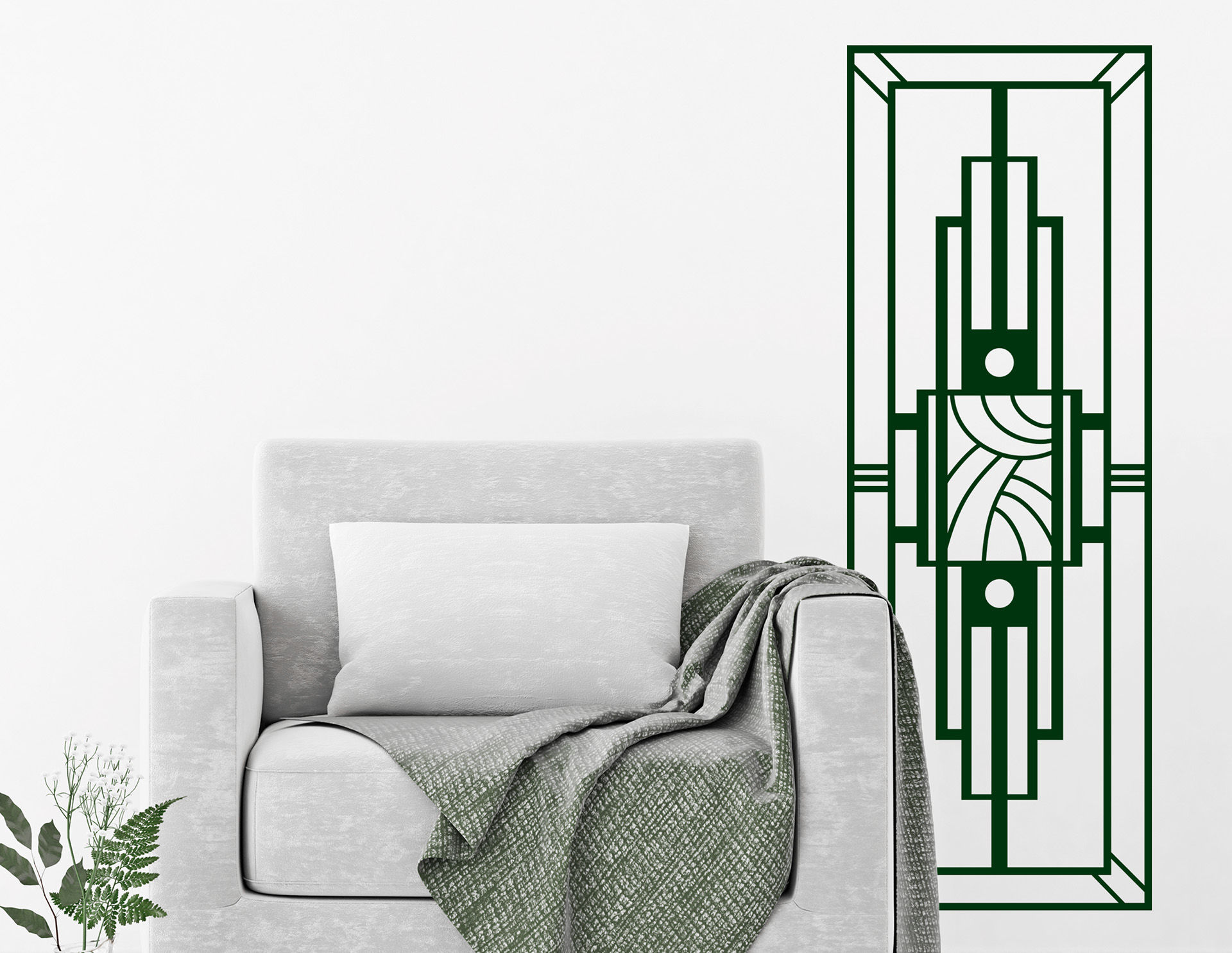 Art Nouveau - Cadre, extravagantes Wandtattoo im Jugendstil