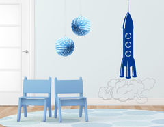 "Wandtattoo ""Rocket Takeoff"" nimmt Dich mit ins Weltall"
