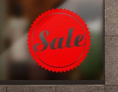 """Aufkleber """"Sale rund"""" für Schaufenster & Gewerbe"""