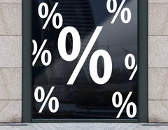 """""""Prozente"""" Aufkleber-Set für die nächste Sale Aktion"""