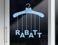 """Rabatt-Aufkleber """"Aufgebügelt"""" für Schaufenster & Geschäft"""