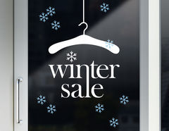 """Aufkleber """"Winter Sale"""" für Schaufenster und Shop"""