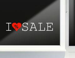 Aufkleber I love Sale