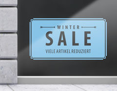 Aufkleber Vintage Winter Sale