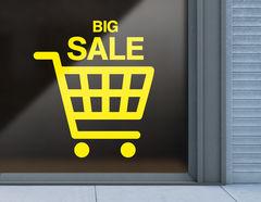 Aufkleber Big Sale Cart