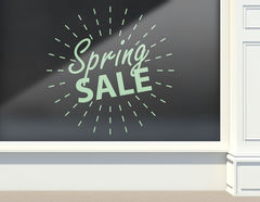 Aufkleber Spring Sale light Ball