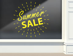 Aufkleber Summer Sale Light Ball