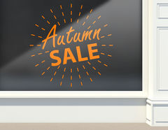 Aufkleber Autumn Sale Light Ball