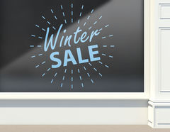 Aufkleber Winter Sale Light Ball