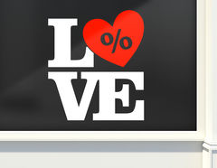 Aufkleber In Love with Sale