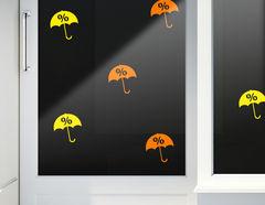 Aufkleber Prozente Regen