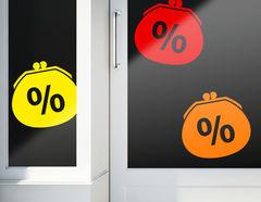 Aufkleber Prozente Börse