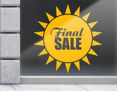 Aufkleber Final Sale Sun