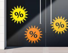 Aufkleber Prozente Sommer