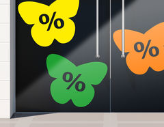 Aufkleber Prozente Schmetterlinge
