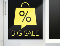 Aufkleber Big Sale Bag