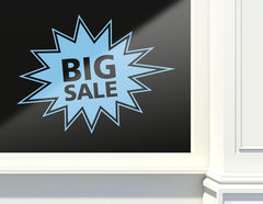 Aufkleber Big Sale Bang
