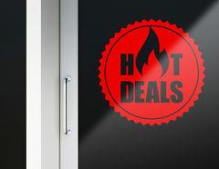 Aufkleber Hot Deals