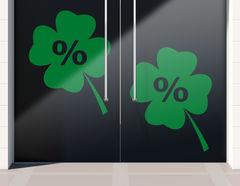 Aufkleber Prozente Glücksklee