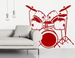Wandtattoo Schlagzeug