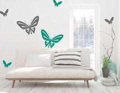 """Wandtattoo """"Schmetterlingsausflug"""" für Tierfans"""
