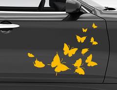 """Autoaufkleber """"Journey of the Butterflies"""" für Sommer-Gefühl"""