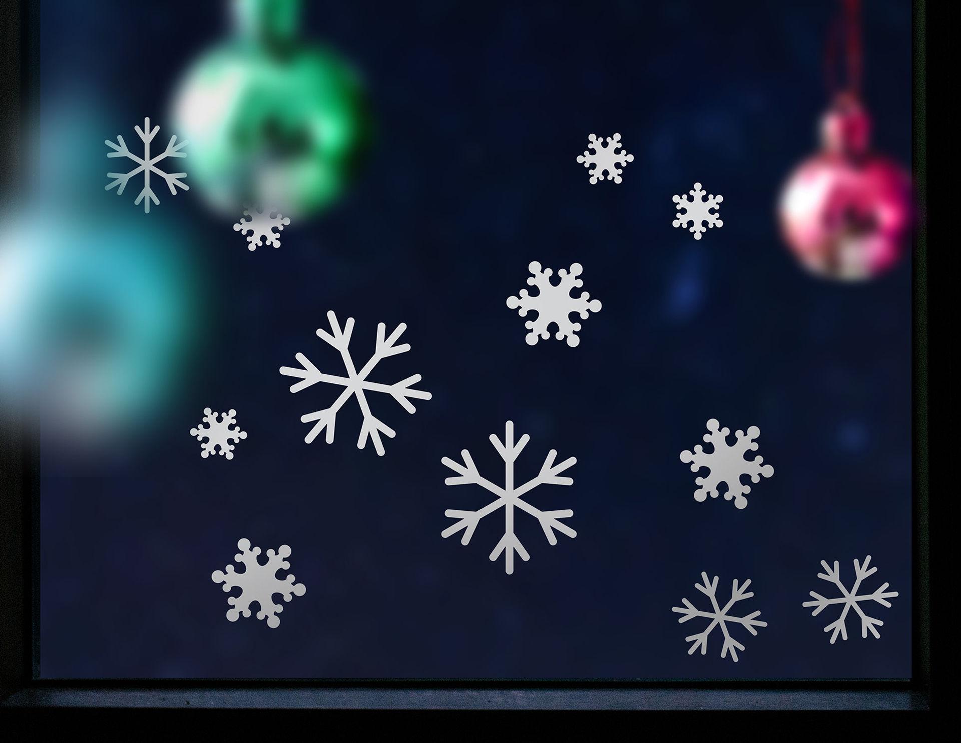 Wandtattoo Schneeflocken Set