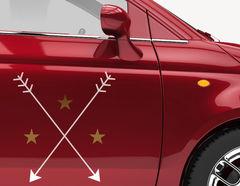 Autoaufkleber Stars with Arrows