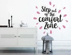 """Wandtattoo """"Comfort Zone"""" für den ersten Schritt"""