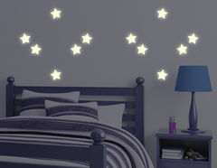 Leuchtsticker-Wandtattoo Leuchtende Sterne für schöne Traume