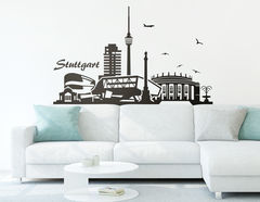 "Wandtattoo ""Stuttgarter Skyline"" zeigt Highlights"