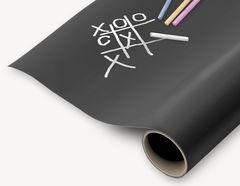 Selbstklebende Tafelfolie in schwarz als Rollenware
