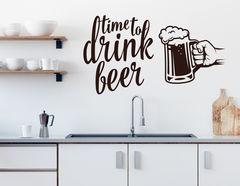 """Wandtattoo """"Beer Time"""": Zeit für ein kühles Blondes!"""