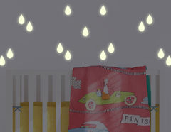 I'm singing in the rain... Leuchtsticker-Wandtattoo Rain Drops