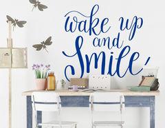"""Wandtattoo """"Wake up & Smile"""" hilft beim Aufstehen"""