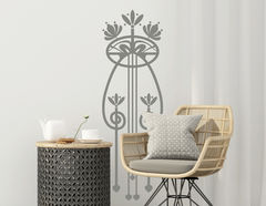 Wandtattoo Art Nouveau - Apogé im floralen Jugendstil-Design