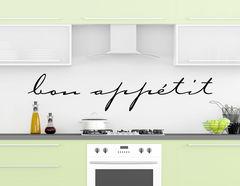 """Wandtattoo """"Bon Appetit Handschrift"""" für Küche und Esszimmer"""